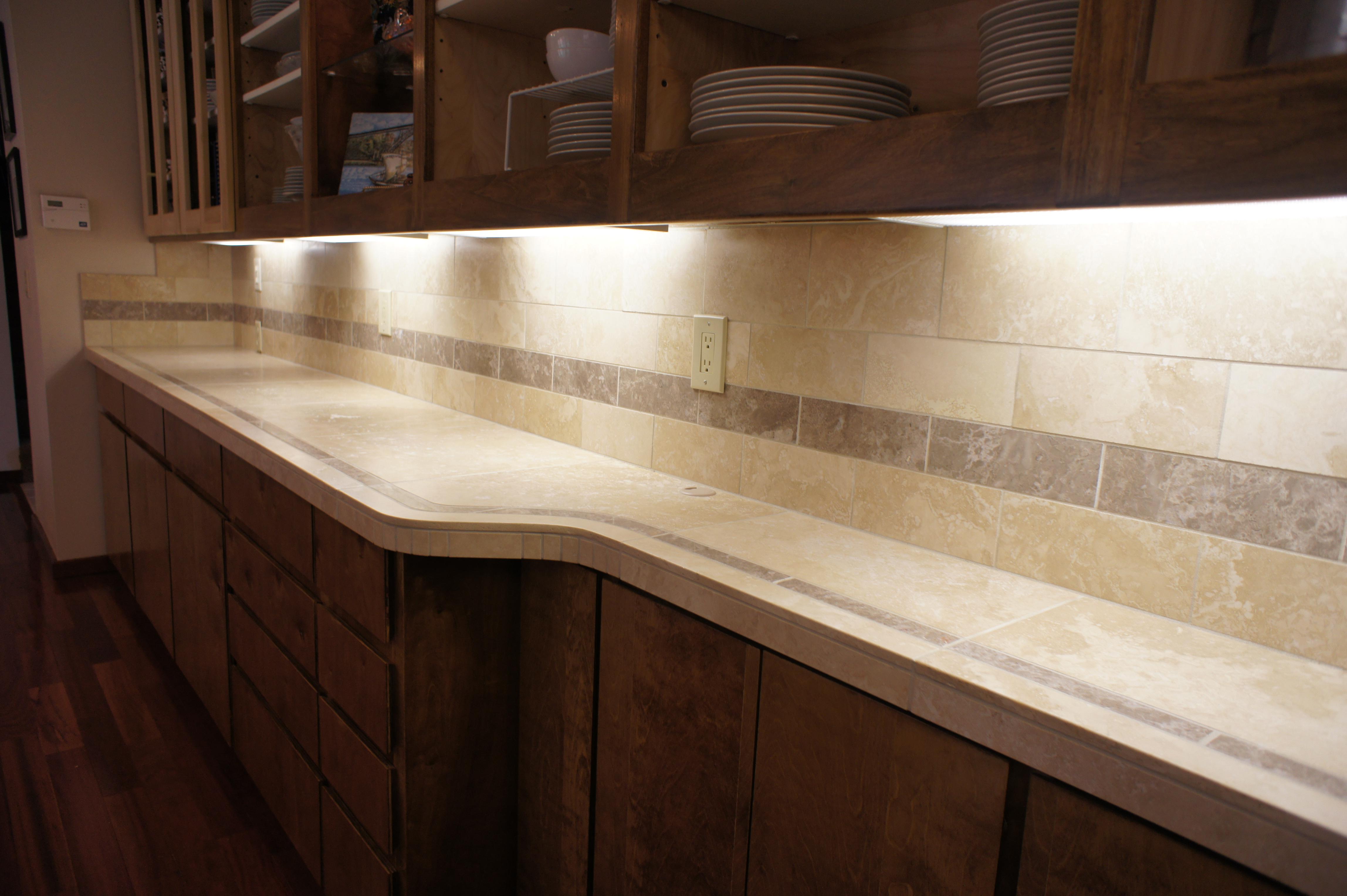 Travertine and Marble countertop Rhone Design