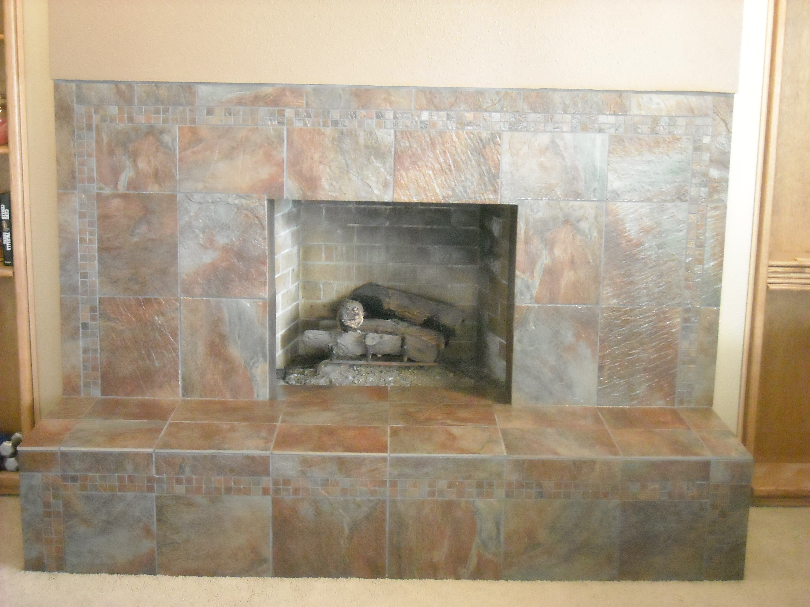 Slate Tile Fireplace Slate Tile Fireplace Rhone